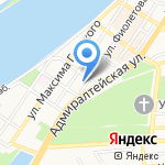 Волга на карте Астрахани