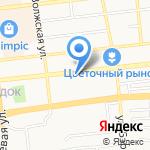 Афелия на карте Астрахани