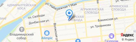 Слик на карте Астрахани