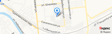 Астраханский таксомоторный парк на карте Астрахани