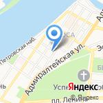Мята на карте Астрахани