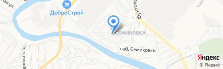 Продуктовый магазин на Центральной на карте Астрахани