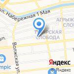 Бастион на карте Астрахани