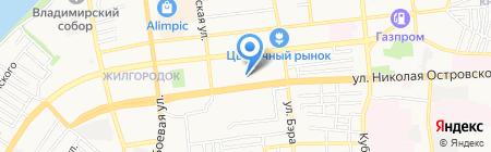Детский сад №11 на карте Астрахани
