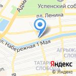 Кредо на карте Астрахани