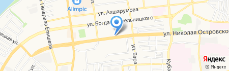 Пепелац на карте Астрахани