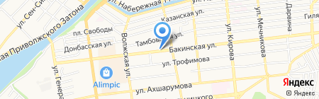 Скорость звука на карте Астрахани