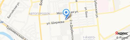 Астраханская геофизическая экспедиция на карте Астрахани