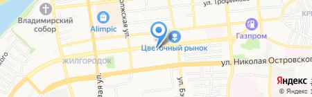 Щербет на карте Астрахани