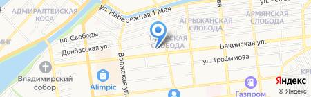 Пилот на карте Астрахани