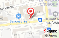 Схема проезда до компании Mixup в Астрахани