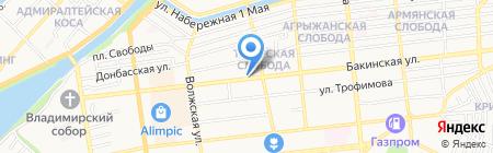 Палермо на карте Астрахани