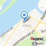 Папа По на карте Астрахани