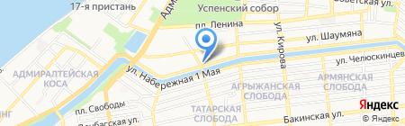 Открытая сменная общеобразовательная школа №1 на карте Астрахани
