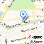 Открытая общеобразовательная школа №1 на карте Астрахани