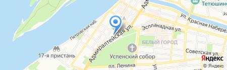 Молния на карте Астрахани