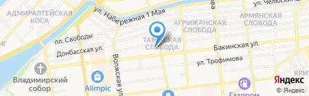 Трионикс на карте Астрахани