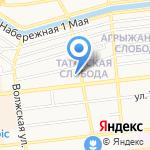 Центр международного обмена на карте Астрахани