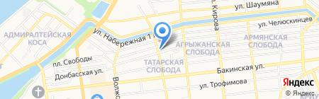 Белая мечеть г. Астрахани на карте Астрахани