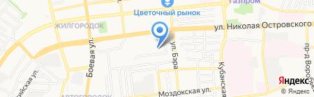 Детский сад №100 на карте Астрахани