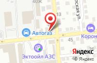 Схема проезда до компании А в Квадрате в Астрахани