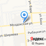 А в Квадрате на карте Астрахани