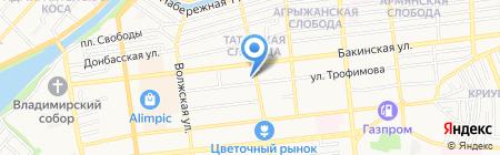 Актив на карте Астрахани