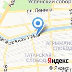 Росич на карте Астрахани