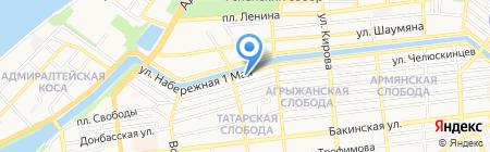 Витязь на карте Астрахани