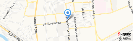 Росвуд-Астрахань на карте Астрахани