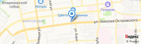 АСК на карте Астрахани