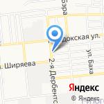 Астраханская оконница на карте Астрахани