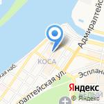 Дым на карте Астрахани