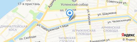 Волго-каспийский морской рыбопромышленный колледж на карте Астрахани