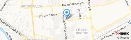 Карусель на карте Астрахани