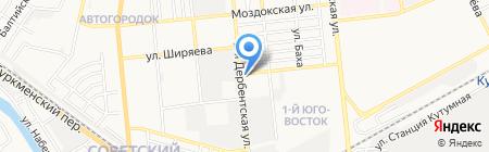 Автомоторс на карте Астрахани