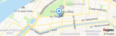 Штурман на карте Астрахани
