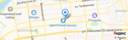 Магазин кондитерских товаров на ул. Бэра на карте Астрахани