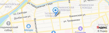 Ясельки на карте Астрахани