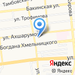 Гёк-Гёль на карте Астрахани