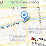 Варвациевский на карте Астрахани