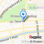Областная детская библиотека на карте Астрахани