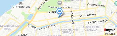 Центр на карте Астрахани