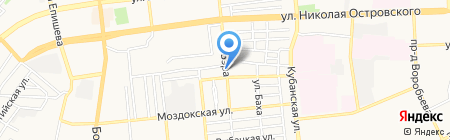 Продуктовый магазин на ул. Дубровинского на карте Астрахани