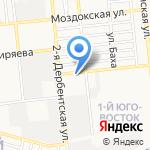 Рыбацкий на карте Астрахани