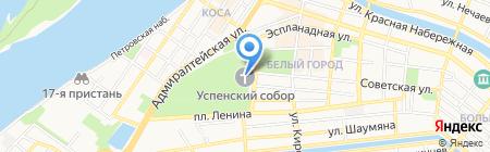 Приход Успенского кафедрального собора на карте Астрахани
