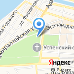 Детская музыкальная школа №1 на карте Астрахани