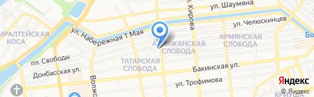 Астраханский исламский колледж на карте Астрахани