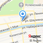 Лун на карте Астрахани