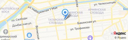 Волга-Волга на карте Астрахани